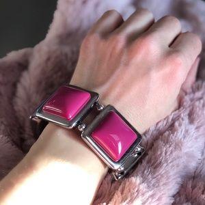 Chunky Purple Stretch Bracelet
